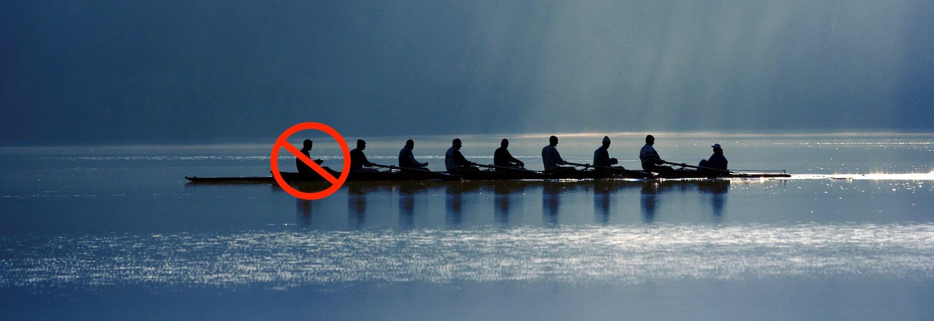 rowing rew red circle